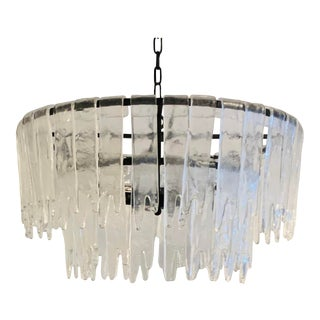 Modern Pioggia Iron and Glass Chandelier For Sale
