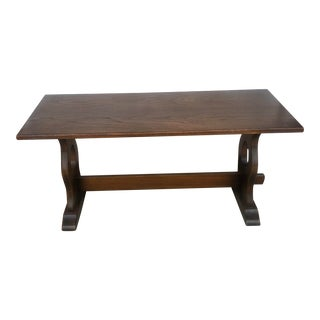 Vintage Oak Bench / Coffee Table For Sale