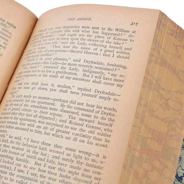 English Leather Bound Books, Scott Waverly Novels Circa 1880s, Set of 10 For Sale In Los Angeles - Image 6 of 9
