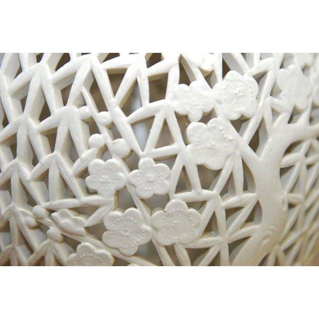 Blanc de Chine Porcelain Ginger Jar Table Lamps - A Pair For Sale - Image 9 of 9