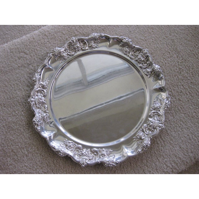 """Traditional Sterling Round 12"""" Charger With Cornicopia For Sale - Image 3 of 7"""