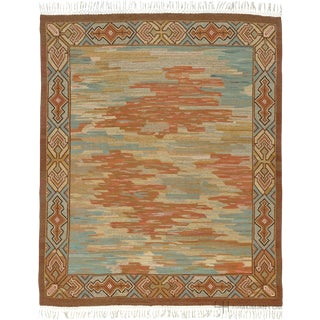 1930s Swedish Flat Weave Rug- 10′3″ × 12′11″ For Sale