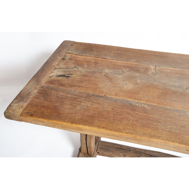 19th Century Swiss Oak Wood Farm Table For Sale In Chicago - Image 6 of 13