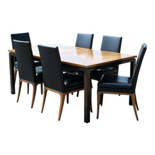 Mid-Century Modern Harvey Probber Dining Mahogany Walnut Table & Chairs - Set of 7