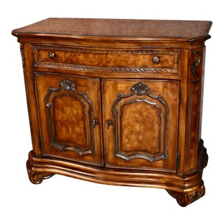1990s Vintage Drexel Carved & Inlaid Tuscan Style Server For Sale