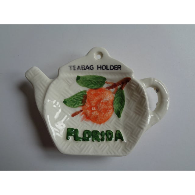 Americana Mid-Century Ceramic Florida Teabag Holder For Sale - Image 3 of 3