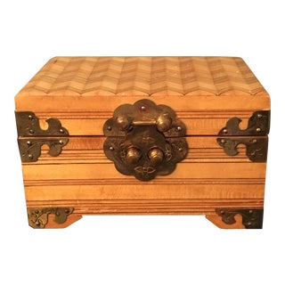 Antique Hand-Carved Chinese Trinket/Jewelry Box For Sale