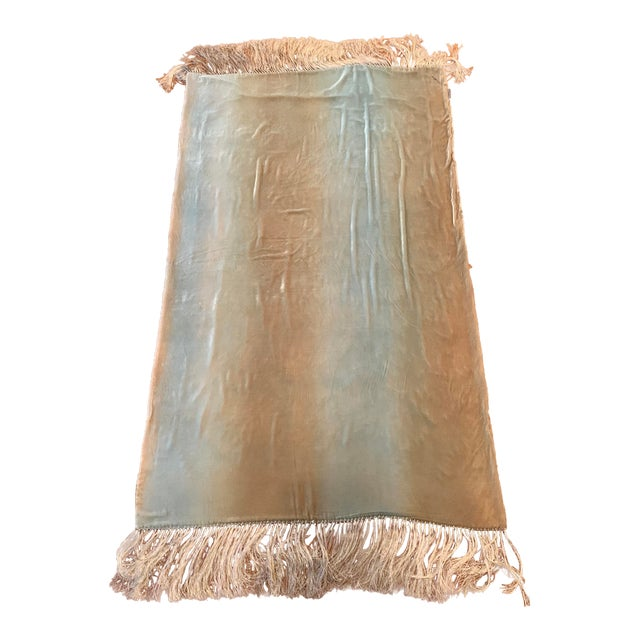This is a one of a kind Kevin O'Brien Studio luxurious, authentic, vintage, possibly a prototype silk velvet throw....