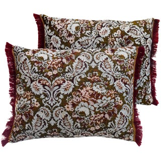 Moroccan Floral-Motif Pillows, Pair For Sale