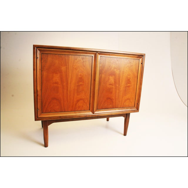 Mid-Century Modern Drexel Wood Record Cabinet - Image 2 of 11