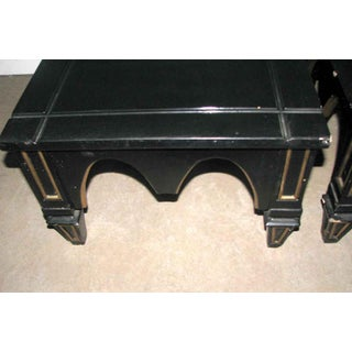 Ebonized Gothic Style End Table Preview