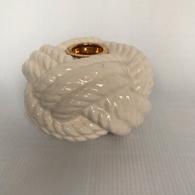 Nautical Porcelain Knot Candle Holder - Image 2 of 7
