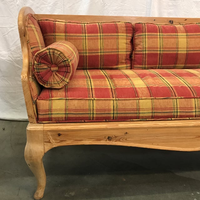 Swedish Pine Settee - Image 4 of 6