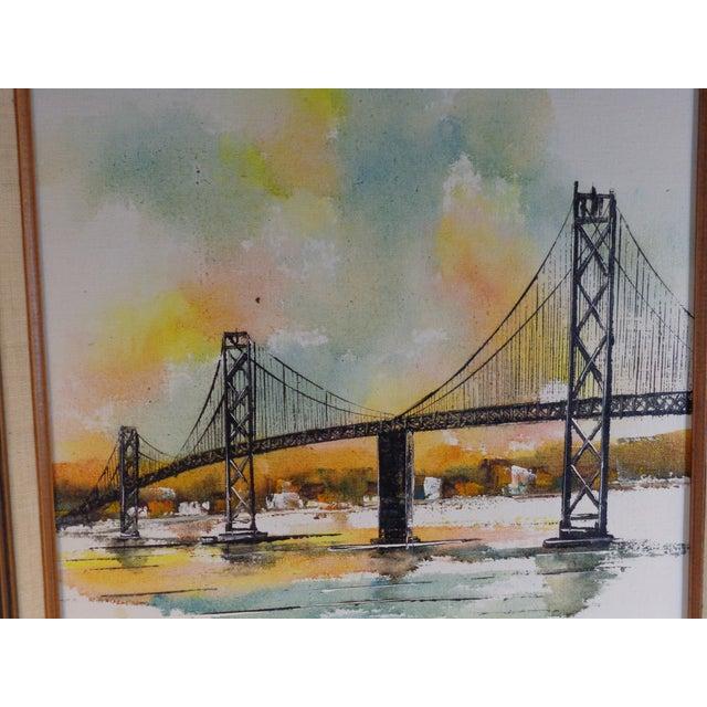 Impressionist Bay Bridge by Adriano Marchello For Sale - Image 5 of 11