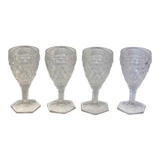 Vintage Fostoria Clear Cordial Glasses - Set of 4 For Sale