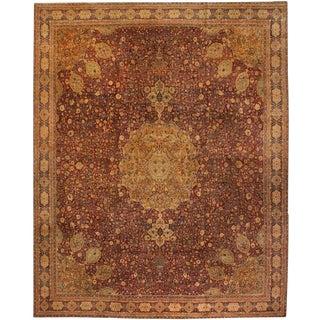Exceptional Oversize Antique 19th Century Persian Tabriz Carpet