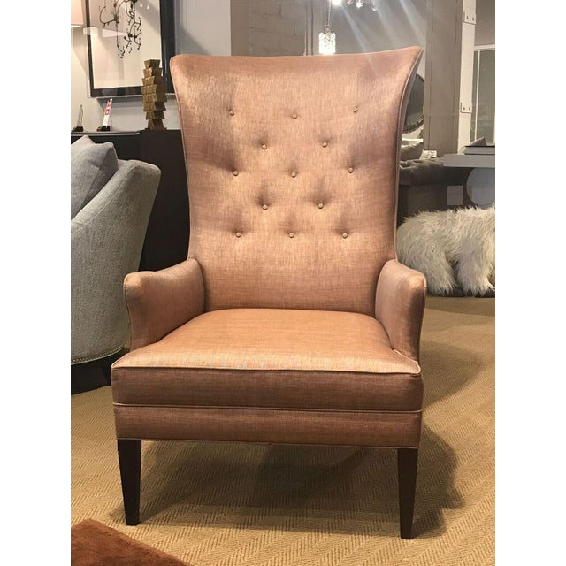 Exquisite mahogany Bird Wing Chair by Hickory Chair from Hable collection. Original retail price: $3,297