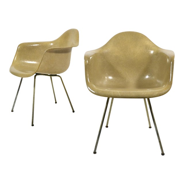 Pair of Eames SAX Armchairs by Zenith Plastics for Herman Miller - Image 1 of 11