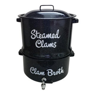 Vintage Steamed Clam Pot For Sale