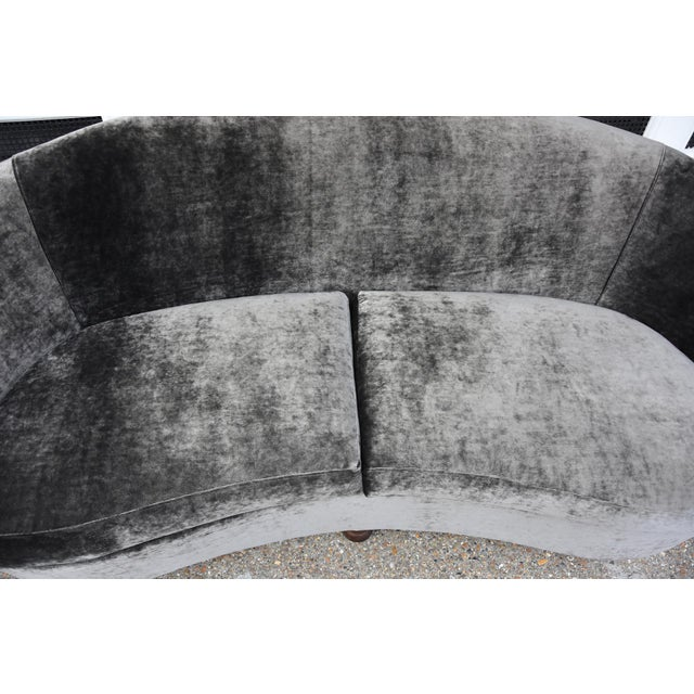 Mid-Century Modern An outstanding Italian design curved sofa For Sale - Image 3 of 5