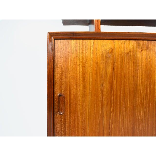 Wood 1950s Danish Modern Arne Vodder for Sibast Teak Sideboard Hutch For Sale - Image 7 of 13