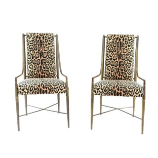 1970s Vintage Mastercraft Imperial Dining Chairs- A Pair For Sale