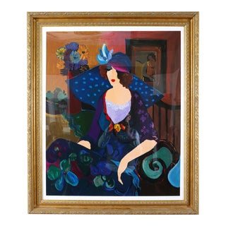 Large Giltwood Frame Itzchack Tarkay Serigraph Signed / Numbered For Sale