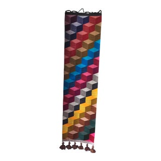 Andes Mountains Handmade Geometric Tapestry