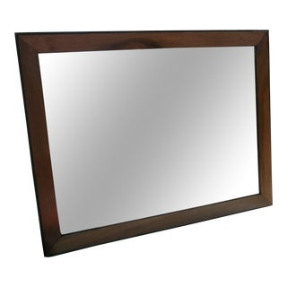 Mirror With Painted Black Frame For Sale