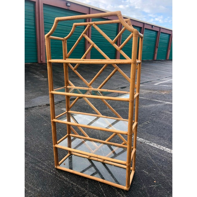 Vintage Tall Bamboo Etagere For Sale - Image 10 of 10