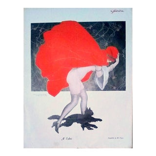 "M Pepin 1926 ""A L' Abri"" Le Sourire Print For Sale"