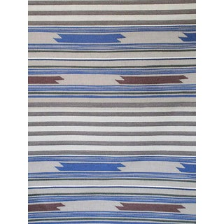 Scalamandre Cheyenne, Blu Grigio Fabric For Sale