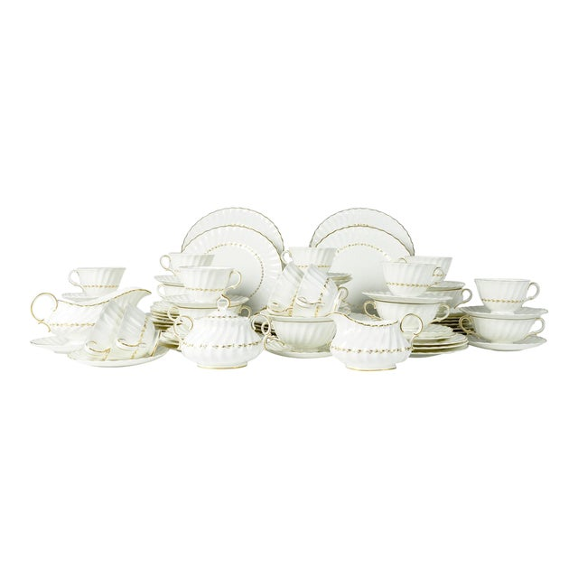 Mid Century English Royal Doulton Dinnerware - Set of 71 For Sale