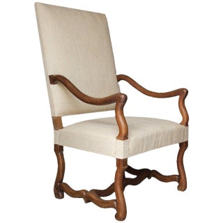 19th Century Antique French Louis XIV Style Armchair For Sale