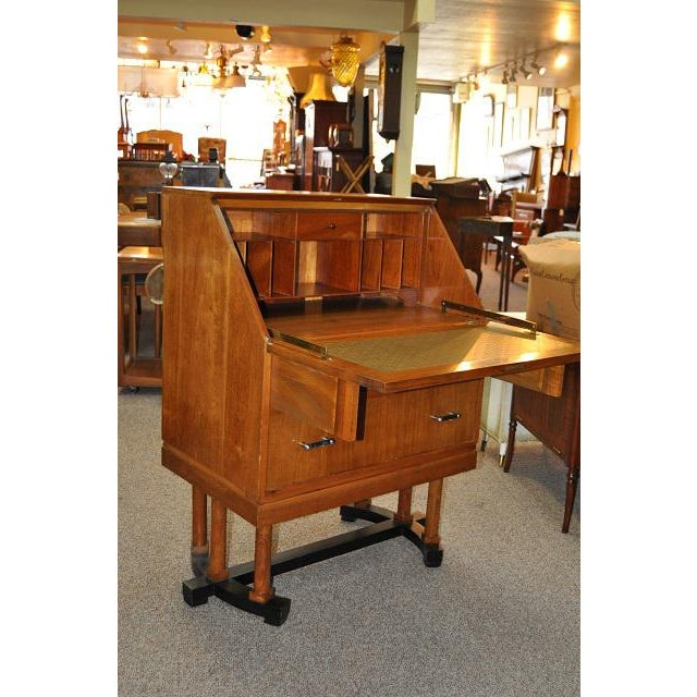 1930's Art Deco Drop Front Desk - Image 9 of 9
