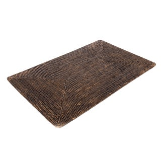 """Boho Chic Rattan Rectangular Placemat 20""""x13"""" For Sale"""