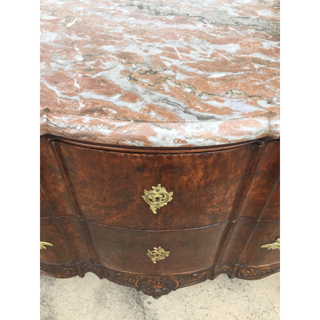 18th C. Continental Burl Walnut Commode - Image 5 of 6