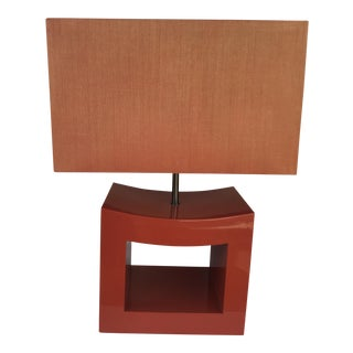Armani Casa Orange Lacquered Lamp For Sale