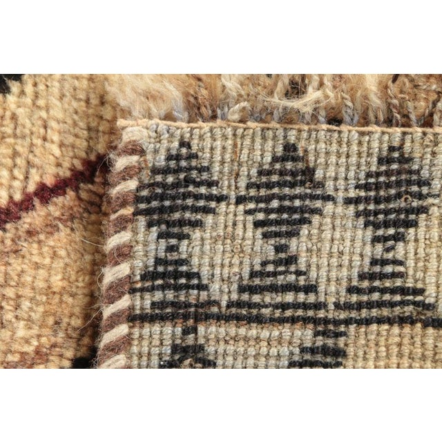 Textile Late 20th Century Hand-Knotted Persian Gabbeh Rug - 3′2″ × 6′8″ For Sale - Image 7 of 8