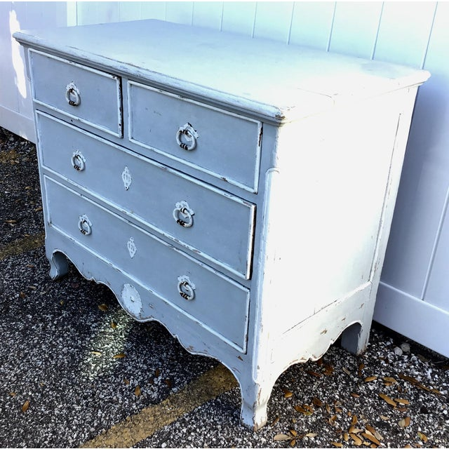 French Antique French Provincial Painted Chest For Sale - Image 3 of 11