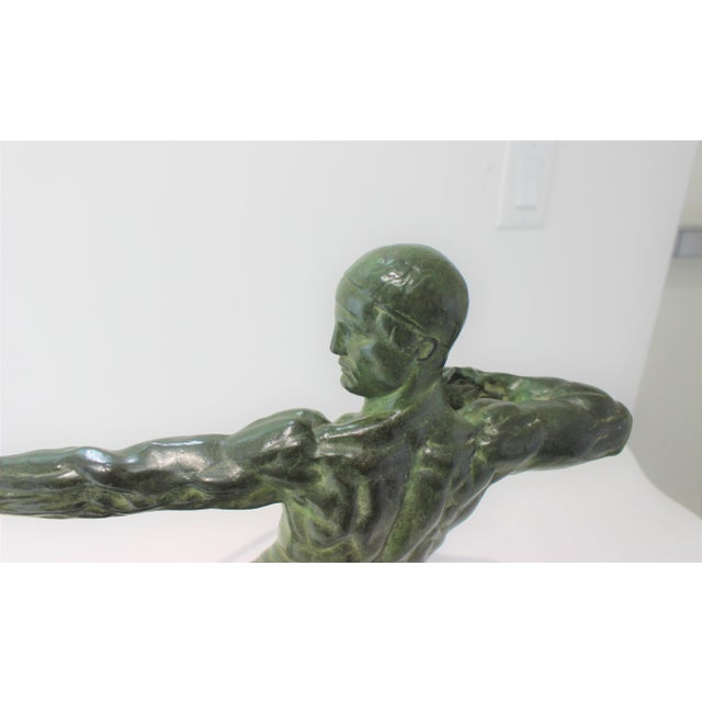 Art Deco Bronze Sculpture Hercules the Archer by Victor Demanet 1925 For Sale - Image 9 of 13