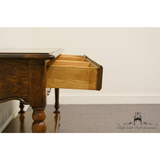 Brown Late 20th Century Vintage Hickory Manufacturing French Oak Console Table For Sale - Image 8 of 13