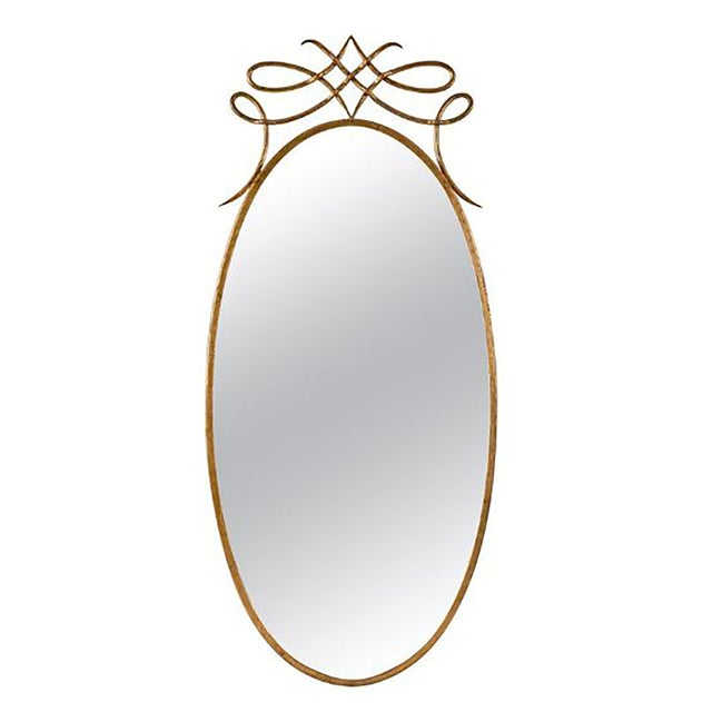 Gold Early 20th Century Art Deco Italian Brass Mirror For Sale - Image 8 of 8