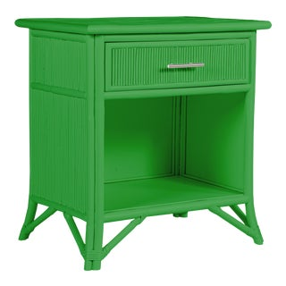 Aruba One-Drawer Nightstand - Bright Green For Sale