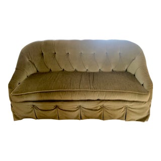 Green Velvet Loveseat For Sale
