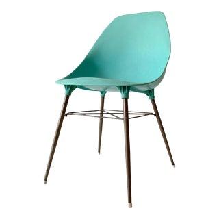 Mid-Century Sam Avedon for Alladin Aqua Plastic Shell Chair For Sale
