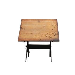 Vintage Hamilton Mfg Co. Wood & Iron Drafting Table
