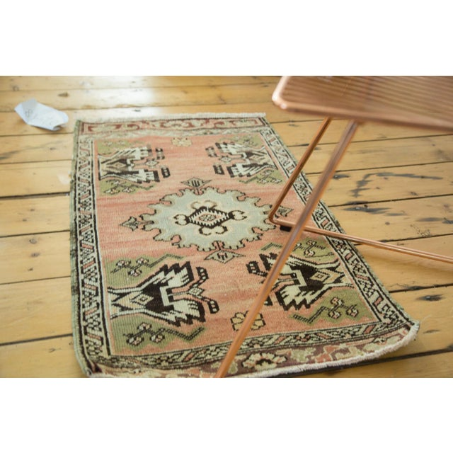 "Vintage Turkish Oushak Mat - 1'9"" x 2'10"" - Image 4 of 7"
