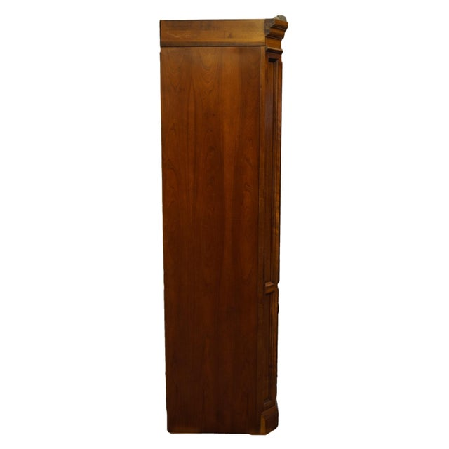"Vintage Italian Provincial Cherry 41"" Entertainment Cabinet/Media Armoire For Sale - Image 12 of 13"