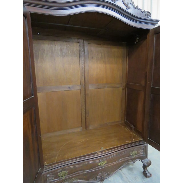 Portugese Carved 2-Door Armoire - Image 9 of 10
